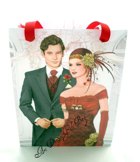 Art Deco Wedding Gift : Wedding Art Deco gift bag... Art Deco Pinterest Gift Bags, Art ...