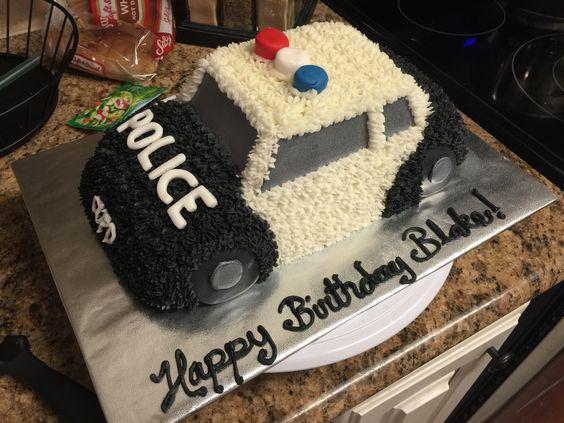 Police Car Cake  By Brickey Cakes