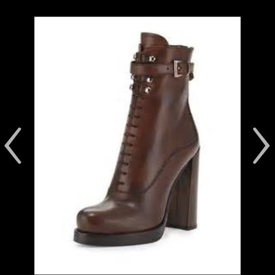 ISO!! Prada lace up heel bootie ISO!! Please help Prada Shoes Lace Up Boots