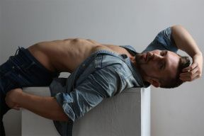 In Chicago we can found this sexy male model, this is a recent portrait you won't forget, he's Jack Fogarty posing for the lens of Michael Dar.