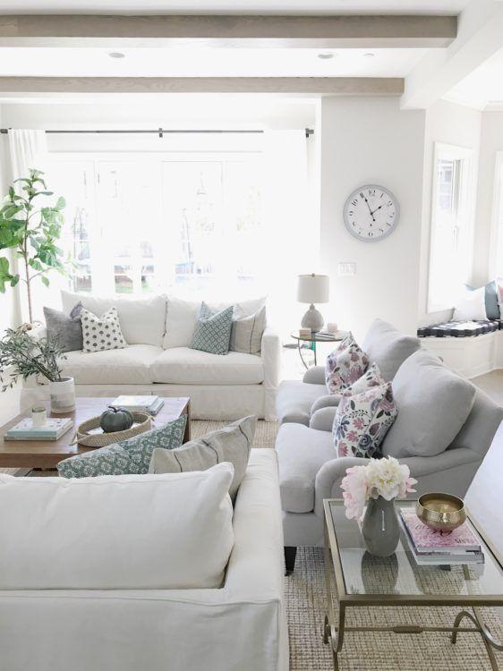 Open Concept Living Room Life On Cedar Lane Open Concept Living Room Neutral Living Room Trendy Living Rooms Concept all white living room