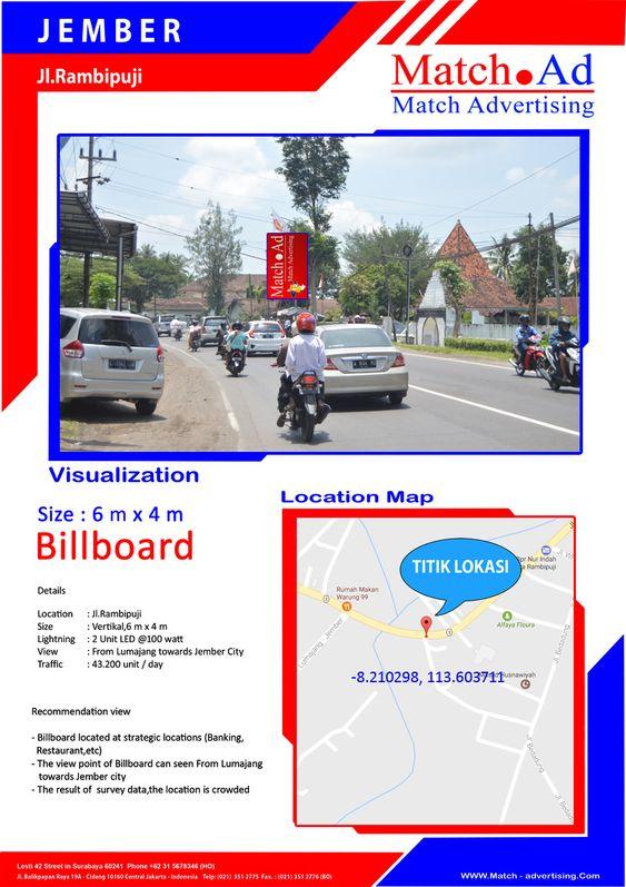 Jember, Jl. Rambipuji - Baliho 6x4