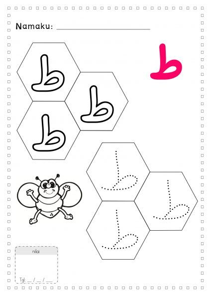 Latihan Menulis Dan Mewarnai Huruf Hijaiyah Untuk Anak Tk Dengan