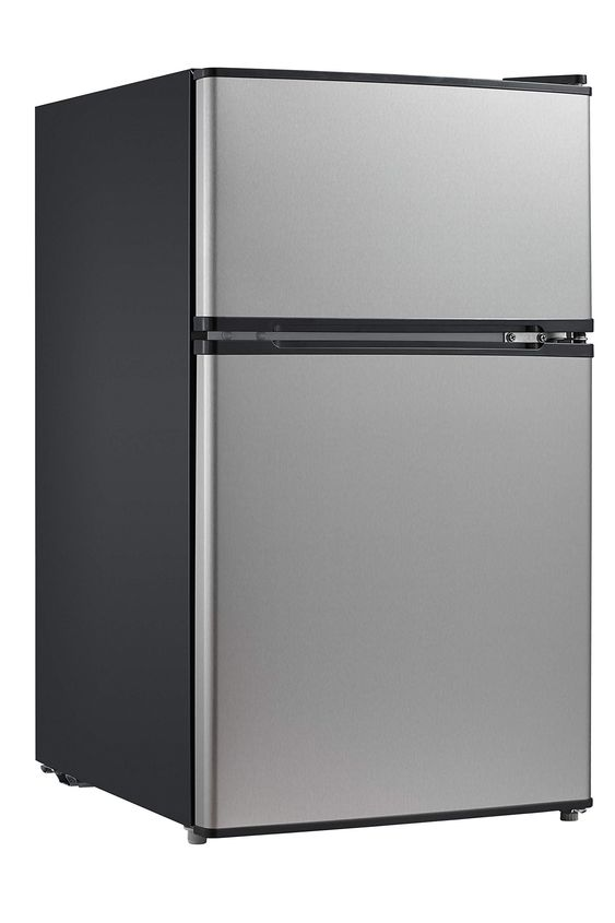 Midea Whd 113fss1 Double Door Mini Fridge With Freezer For Bedroom Office Or Dorm With Mini Fridge With Freezer Compact Refrigerator Refrigerator Freezer