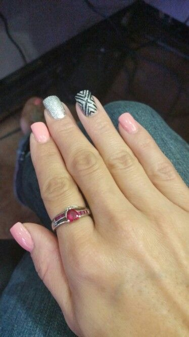 Loved the nail color combination