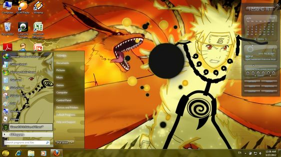 Naruto Shippuden Window 7 Themes Free Download Hyapuzzcol Di 2020 Gambar Gambar Bergerak Hello Kitty
