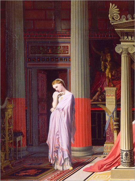La maladie d'Antiochus, ou Antiochus et Stratonice - Jean-Auguste-Dominique Ingres. Detail.