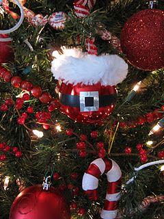 Red ball Santa ornament:)