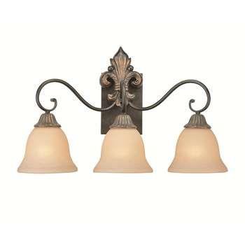 Bathroom Lighting Fixtures Gold jeremiah lighting 10803-fg fleur de lis traditional 3 light