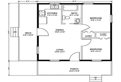 Gallery For Simple Log Cabin Homes Floor Plans