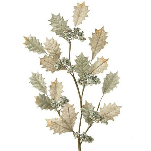 RAZ Imports - Sage Green Holly Berry Spray 28""