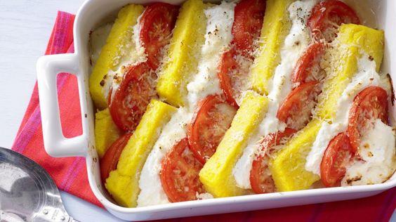 Polenta-Käse-Auflauf