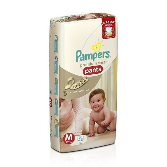Image result for Pampers Premium Care Medium Size Diaper Pants (42 Count)