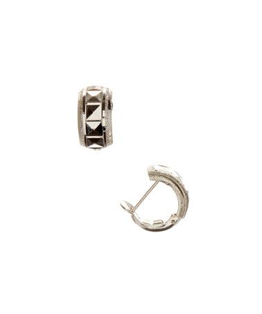 Another great find on #zulily! Sterling Silver Diamond-Cut Huggie Earrings #zulilyfinds