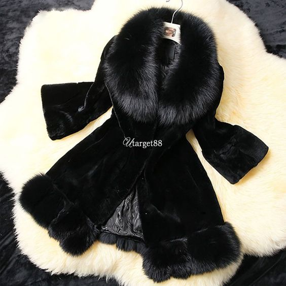Warm Women Faux Fur Collar Coat Leather Jacket Parka Overcoat Outwear Utar