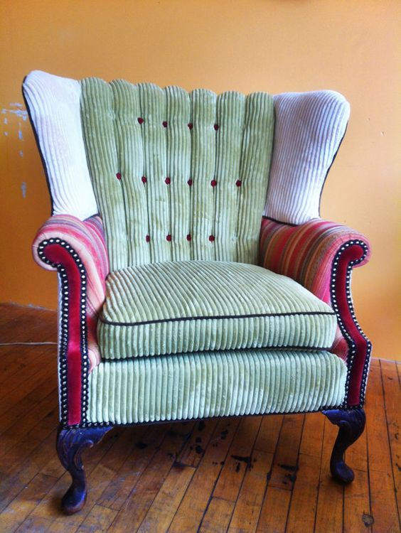 Custom Wingback Chair done in funky style