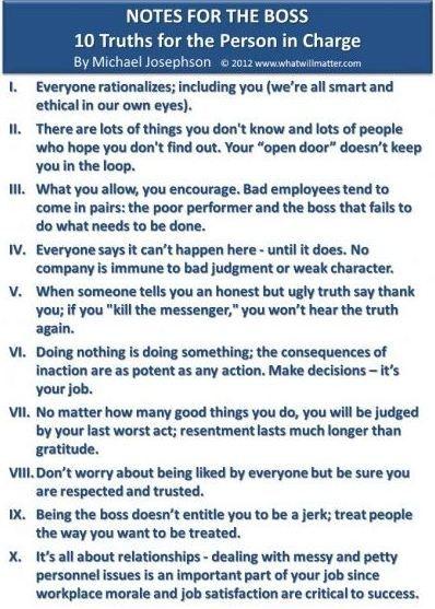 Michael Josephson quotation.  Good Advice