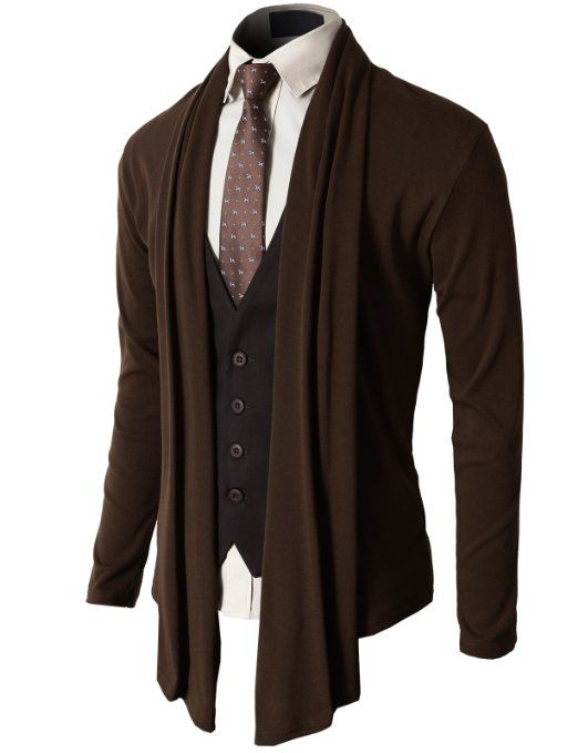 h2h s shawl collar cardigan with no button clothing