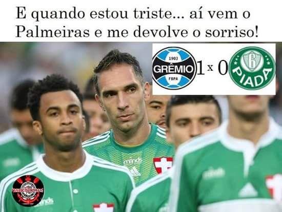 Quando o Palmeiras perde, não tem porque o corintiano ficar triste.