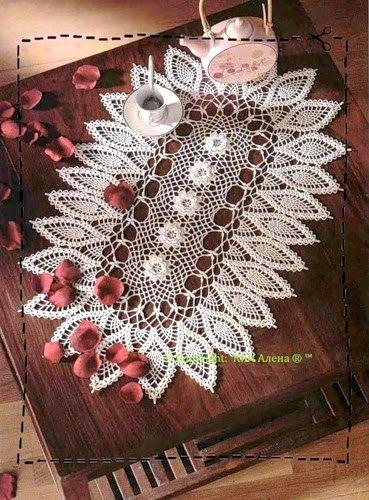 Crochet: tablecloth: