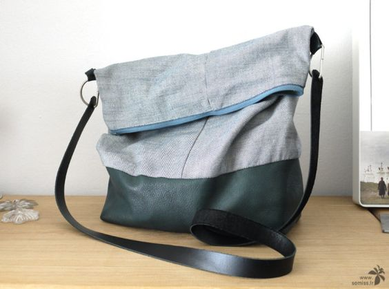 Nattes jeans and bricolage on pinterest - Tuto sac bandouliere ...