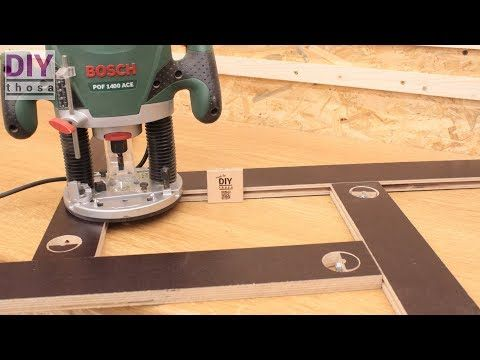Make Your Own Adjustable Diy Router Template A Must Have Jig Youtube Diy Router Router Woodworking Router Jig