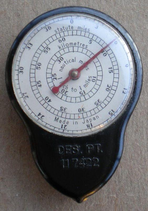 Vintage Map Distance Mileage Meter   eBay