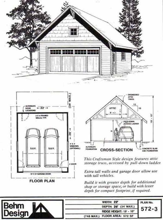 Cars 2 Car Garage Plans And Roof Plan On Pinterest