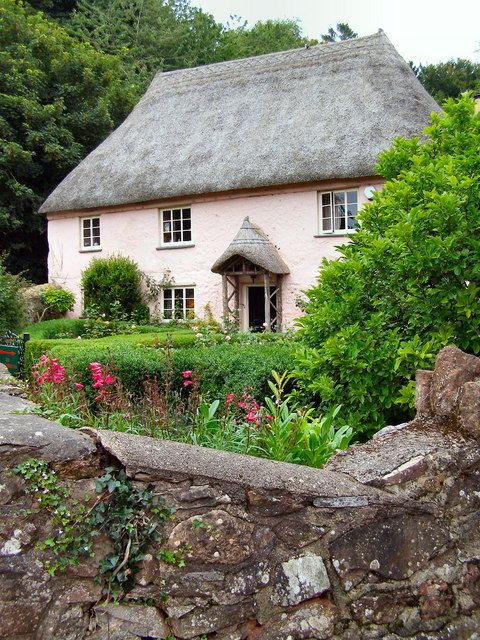 Cottages pink and devon on pinterest for Castle and cottage home collection