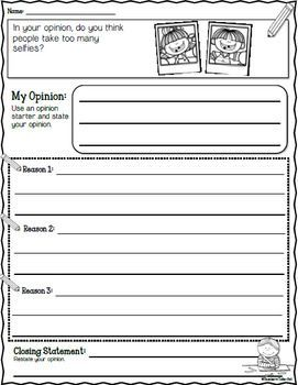 Opinion Writing Worksheets Opinion Writing Writing Worksheets