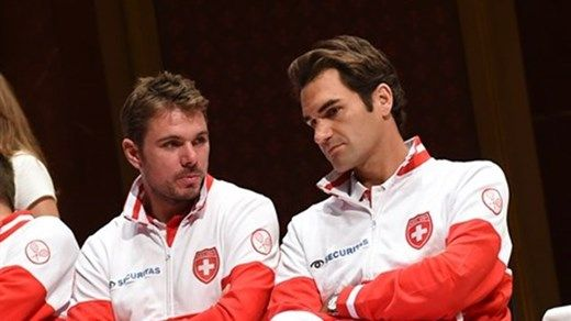 #DAVISCUP  Roger Federer and Stan Wawrinka have been named by captain Severin Luthi to lead the Swiss charge in the Davis Cup by BNP Paribas Final v Team France in Lille on 21-23 November. Switzerland has never won the Davis Cup and this is their first final appearance since 1992. The French team has not yet been named. Captain, Arnaud Clement, took Jo-Wilfried Tsonga, Richard Gasquet, Gael Monfils and Gilles Simon, Julien Benneteau to a training camp in Bordeaux.