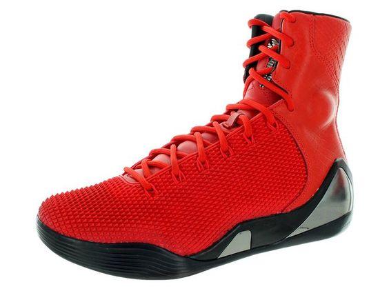 Nike Men's Kobe IX High Krm Ext Qs Challenge Red/Challenge Red Basketball Shoe…