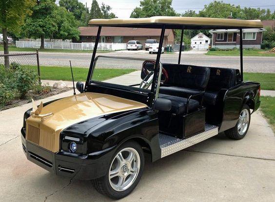Rolls Royce Golf Cart >> Rolls Golf Cart Golf Carts Pinterest Golf Carts Golf And