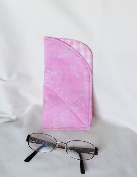 Sparkly Pink glasses case, Fabric Specs pouch, Sunglasses cases, Spectacle cover, Shiney material, hand made gifts, home made, gift for her