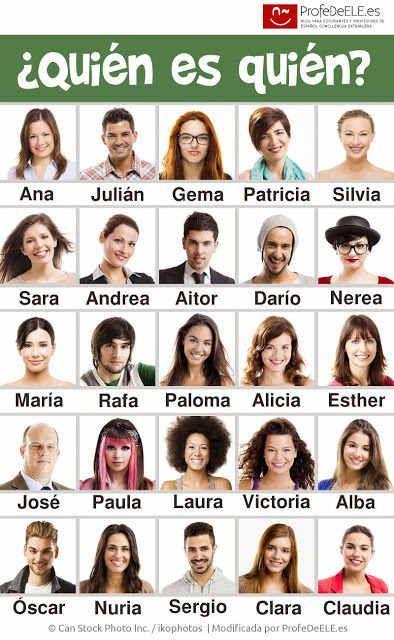 #juegos  #descripciones Fichas para jugar al ¿quién es quién?