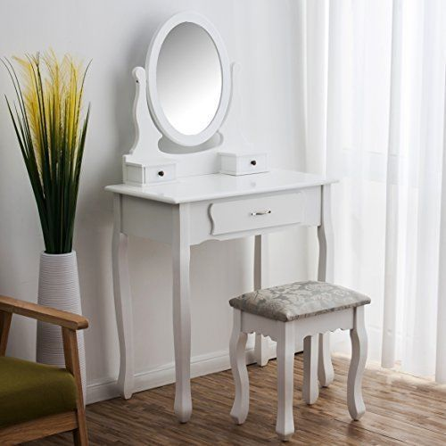 Astonishing Dressing Table With Mirror Chair Stool Chic Antique Makeup Bralicious Painted Fabric Chair Ideas Braliciousco