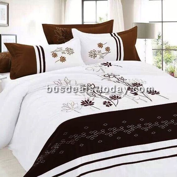 Beautifully Embroidered King Size Bedding Set. ONLY Dhs. 150.00  Set includes:  1 Duvet Cover  220x240cm 1 Flat Sheet 240x260 cm 4 pillows cases 48x74 add 5cm  busdeals-today.com http://ift.tt/1ErkHMT WhatsApp: 052 945 0555