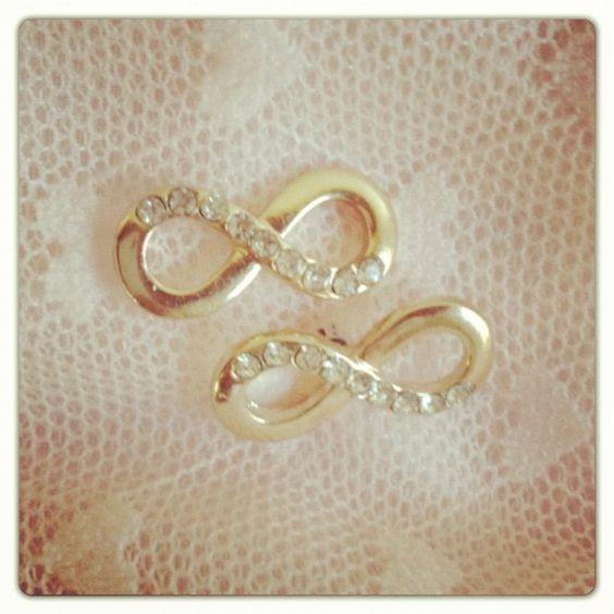 gold infinity earrings $10