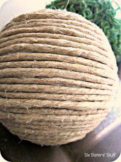 DIY Pottery Barn Inspired Decorative Balls Tutorial / Six Sisters' Stuff | Six Sisters' Stuff
