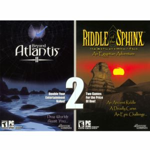 Beyond Atlantis II & Riddle of the Sphinx Combo. In Beyond Atlantis II, you assume the role of an archaeologist as you search for the existence of a metropolis built, according to myth and legend, by the ancient Egyptians. Plunge into the most mysterious, intriguing and dangerous of adventures - the quest for Atlantis. New Worlds Await You.  As you venture deep into the Great Pyramid, you will come face to face with ancient evil. What danger lurks in the corridors leading to chambers of…