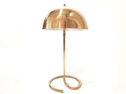 #589 Lámpara de escritorio estilo vintage (Niquel- Cobre)