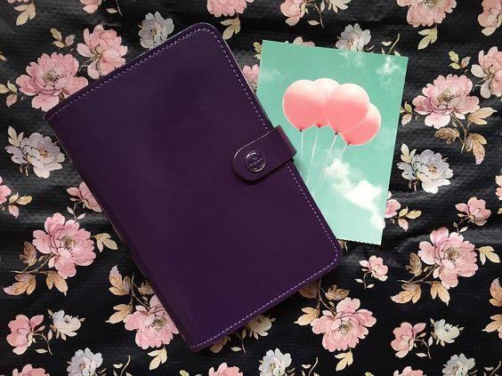 Guten Morgen Ihr lieben  - Der Februar hat begonnen und somit beginnt #josiesfebruarchallange .... Tag 1 - Planner ... Das ist meiner . der #Filofax #Original #personal in der Farbe #purple  by miss.kunterbunt