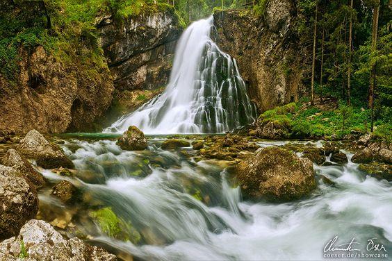 Gollinger Wasserfall in Golling, Österreich.