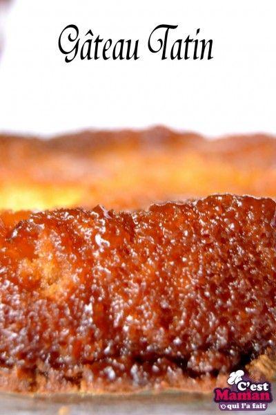 Gâteau Tatin aux pommes – gâteau blond