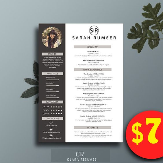 creative  creative resume and resume templates word on pinterest