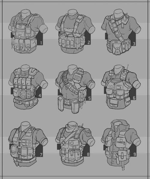 Chest rigs.