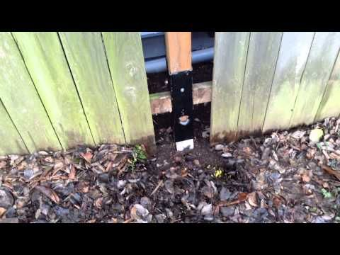 How To Fix A Leaning Fence Youtube Home Fixes