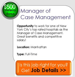 Managerial Opportunity For Nurse Case Manager In Nyc Top Hospital