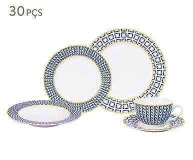 Jogo de Jantar em Porcelana Geometric