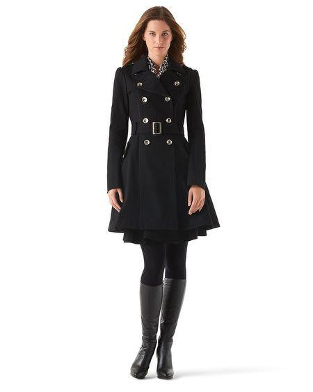 White House | Black Market Feminine Flare Trench Coat whbm | My